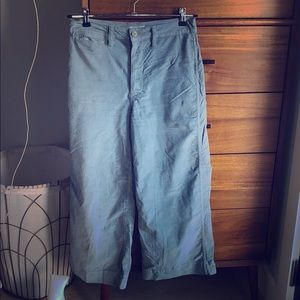 Madewell wide leg corduroy pants in blue